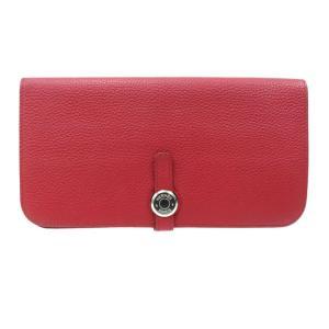 エルメス ドゴンロング 長財布 ドゴン レクトヴェルソ 二つ折り財布 レッド 【財布】|turuya783
