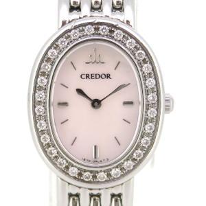 セイコー クレドール シグノ ダイヤベゼル レディース 1E70-0AB0 【時計】|turuya783