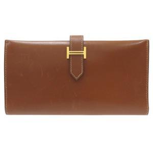 エルメス ベアンクラシック 長財布 二つ折り財布 ブラウン 【財布】 turuya783