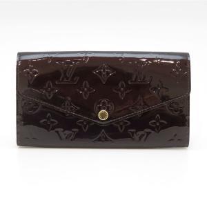 ルイヴィトン ポルトフォイユ サラ ヴェルニ 長財布 M90152 二つ折り財布 パープル 美品 【財布】|turuya783