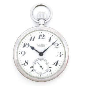 セイコー プレシジョン 鉄道時計 アンティーク・ヴィンテージ メンズ 19セイコー 秒針規制装置付 ポケットウォッチ 【時計】|turuya783