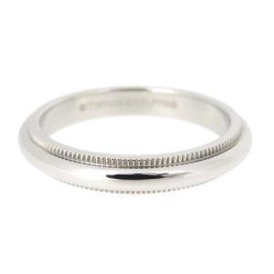 ティファニー ミルグレイン リング 3mm クラシック マリッジリング 結婚指輪 ウェディング Pt950 【ジュエリー】|turuya783