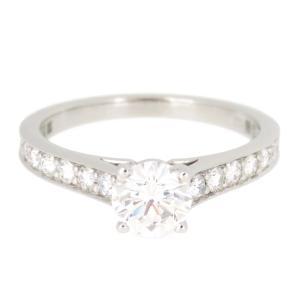 カルティエ 1895 ソリテール リング 0.64ct パヴェダイヤ 1895 エンゲージリング 婚約指輪 ソリティア Pt950 【ジュエリー】|turuya783
