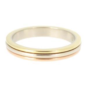カルティエ スリーゴールド ウェディング リング 2.8mm 旧型 トリニティ バンドリング 結婚指輪 マリッジリング K18YG K18WG K18PG 【ジュエリー】|turuya783