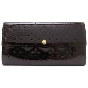 ルイヴィトン ポルトフォイユ サラ(イニシャル入り) ヴェルニ 長財布 M93524 二つ折り財布 パープル 【財布】|turuya783