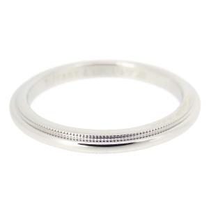 ティファニー ミルグレイン バンドリング 2mm ティファニークラシック マリッジリング 結婚指輪 ウェディング Pt950 【ジュエリー】|turuya783