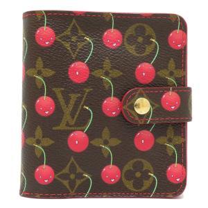ルイヴィトン コンパクト ジップ コレクション モノグラム チェリー 二つ折り財布 M95005 村上隆 限定 【財布】 turuya783