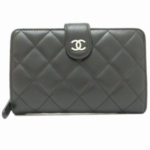 シャネル 二つ折り財布 マトラッセ 2つ折り財布 A48667 ココマーク 【アクセサリー】|turuya783