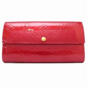 ルイヴィトン ポルトフォイユ サラ ヴェルニ 長財布 M93530 二つ折り財布 レッド 【財布】|turuya783