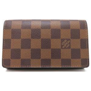 ルイヴィトン ポルトフォイユ トレゾール ダミエ 二つ折り財布 N61736 【財布】|turuya783