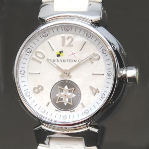 ルイヴィトン タンブール ラブリーカップ PM レディース ホワイトシェル 12ポイント ダイヤモンド 【時計】|turuya783