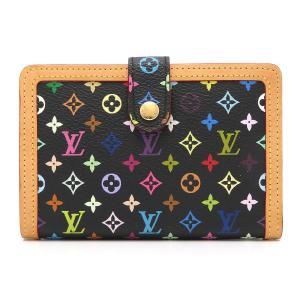 ルイヴィトン ポルトフォイユ ヴィエノワ マルチカラー 二つ折り財布 M92988 がま口財布 ブラック 【財布】 turuya783