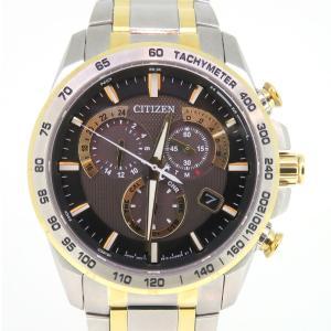 シチズン アテッサ エコドライブ 美品 メンズ E610-S104840 電波時計 【時計】|turuya783