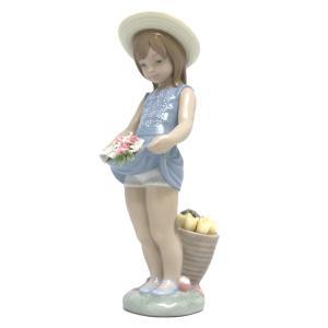 リヤドロ スカートに花いっぱい 花と少女 turuya783