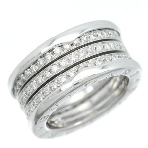 新品仕上げ BVLGARI ブルガリ K18WG パヴェダイヤモンド ビーゼロワン リングM フルダイヤモンド B-ZERO1 4band #52 11.5号 幅10.6mm|turuya783