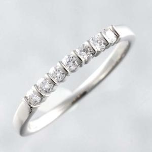 Tiffany ティファニー Pt950 ダイヤモンド ハーフエタニティ リング バーゼット ウェディングリング 結婚指輪 #10 10号 幅1.6mm
