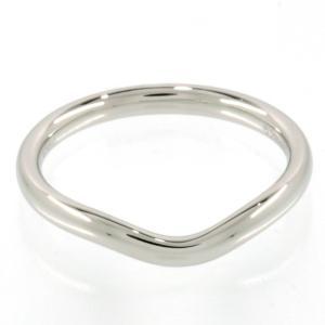 Tiffany ティファニー Pt950 カーブド バンド リング ウェディングリング 結婚指輪 マリッジリング エルサ ペレッティ 10.5号 幅2.2mm