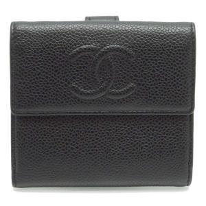 CHANEL シャネル Wホック財布 ダブルホック財布 二つ折り財布 ココマーク 中古|turuya783