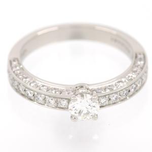 新品仕上げ BVLGARI ブルガリ Pt950 1ポイント ダイヤモンド パヴェダイヤ デディカータ ア ヴァネチア リング 1503 エンゲージリング 婚約指輪 11号|turuya783