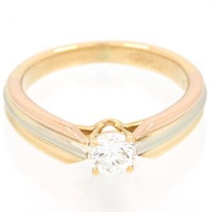 新品仕上げ Cartier カルティエ K18YG K18PG K18WG ダイヤモンド ソリテール トリニティ リング ソリティア 1粒ダイヤ スリーゴールド スリーカラー 8号|turuya783
