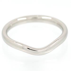 新品仕上げ Tiffany ティファニー Pt950 カーブド バンドリング エルサ ペレッティ ウェディングリング 結婚指輪 マリッジリング 8号 幅2.2mm|turuya783