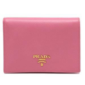 PRADA プラダ 二つ折り財布 2つ折り財布 1M0668 小銭入れ付 ピンク 未使用品|turuya783