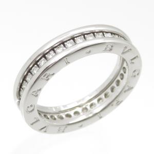 新品仕上げ BVLGARI ブルガリ K18WG ダイヤモンド ビーゼロワン リング XS ダイヤモンド #54 (14号) 幅4.7mm|turuya783