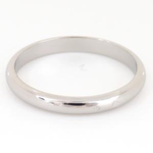 新品仕上げ Cartier カルティエ Pt950 クラシック ウェディング リング 1895 バンドリング 結婚指輪 マリッジリング #52 幅2.5mm|turuya783