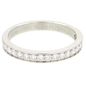 新品仕上げ Cartier カルティエ Pt950 19Pダイヤモンド0.27ct ハーフ エタニティ リング 10号|turuya783