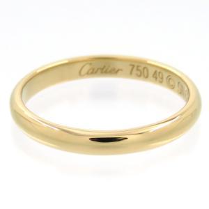 新品仕上げ Cartier カルティエ K18YG クラシック ウェディング リング #49 (9号)|turuya783