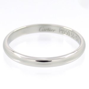 新品仕上げ Cartier カルティエ Pt950 ウェディング バンドリング #55 (14.5号) 幅2.5mm|turuya783