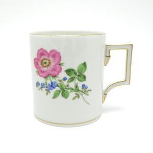 [商品名] マイセン  ベーシックフラワー マグカップ 2ツ花 [カラー] ホワイト ピンク ブルー...