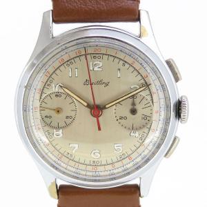 ブライトリング 2カウンター クロノグラフ アンティーク・ヴィンテージ メンズ OH済み 筆記体ロゴ 【時計】|turuya783