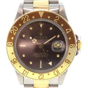 ロレックス GMTマスター2 フジツボダイヤル アンティーク メンズ 61番台 1979年頃製造 ルートビアダイヤル ブラウン文字盤 茶金ベゼル SS/YG 【時計】|turuya783