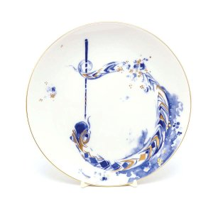 [商品名] マイセン 2001年 干支プレート 笛を吹く陽気なスネーク [カラー] ホワイト ブルー...