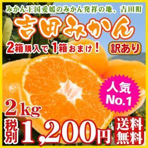 吉田みかん2kg(ワケあり・サイズ2S〜2L込)2箱購入で1箱おまけ!wy2【送料無料】
