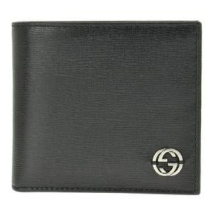 グッチ GUCCI 財布 二つ折り財布 型押しカーフ インターロッキングG【送料無料】ブラック グッチ財布 サイフ 256336 ARU0N 1000|tutto-brand