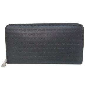アルマーニ ジーンズ ARMANI JEANS 長財布 ラウンドファスナー財布 938542 CC999 00020 ブラック メンズ財布|tutto-brand