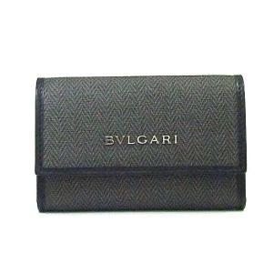 ブルガリ キーケース ウイークエンドコーティッドヘリテージキャンバス BVLGARI 6連キーケース グレー/ブラック 32583|tutto-brand