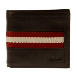 バリー BALLY 財布 2つ折り財布 サイフ レザー 革 メンズ men's ブラウン TYE-US/271|tutto-brand