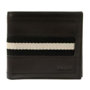 バリー BALLY 財布 2つ折り財布 サイフ レザー 革 メンズ men's ブラック TYE-US/290|tutto-brand