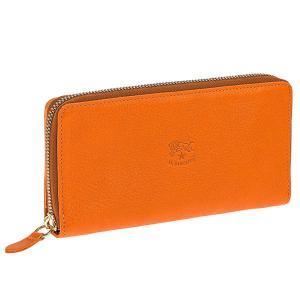 IL BISONTE イルビゾンテ ラウンドファスナー長財布 レザー C0857-P-166 ARANCIO/オレンジ|tutto-brand