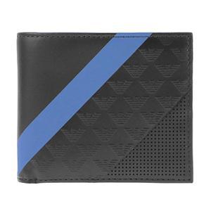 エンポリオ アルマーニ EMPORIO ARMANI 財布 2つ折り財布 YEM122 YKS2V 81072 メンズ財布 ブラック|tutto-brand