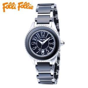 【送料無料】フォリフォリ Folli Follie 時計 腕時計 WF0A033BDK ブラック 替えベゼル付き レディース tutto-brand
