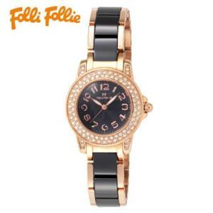 【送料無料】フォリフォリ Folli Follie 時計 腕時計 WF9B020BPK ブラック/ゴールド レディース tutto-brand