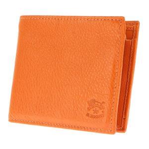 イルビゾンテ IL BISONTE 折財布 二つ折り財布 レザー 革 メンズ C0817 166 ORANGE オレンジ tutto-brand