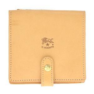 イルビゾンテ IL BISONTE 折財布 二つ折り財布 レザー 革 メンズ レディース C0962 120 NATURAL ナチュラル tutto-brand