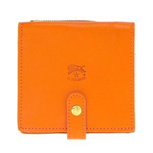 イルビゾンテ IL BISONTE 折財布 二つ折り財布 レザー 革 メンズ レディース C0962 166 ORANGE オレンジ tutto-brand