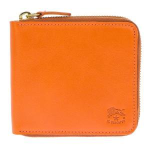 イルビゾンテ 折財布 二つ折り財布 ラウンドファスナー財布 レザー 革 メンズ レディース C0990 166 ORANGE オレンジ tutto-brand