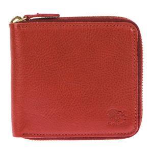 イルビゾンテ IL BISONTE 折財布 二つ折り財布 ラウンドファスナー財布 レザー メンズ レディース C0990 245 ROSSO レッド tutto-brand